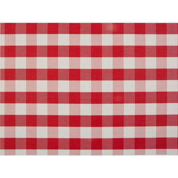 Tischset Rot Weiss Kariert Tischdekoration Restaurant Bankett