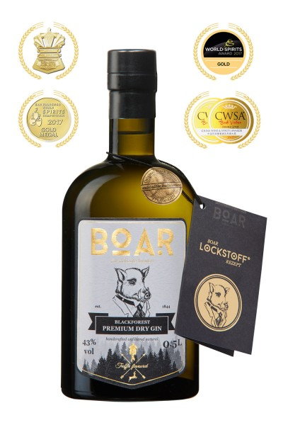 BOAR Black Forest Premium Dry Gin 43% vol. 0,5l